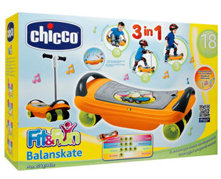 Chicco Bērnu skūteris skrejritenis  Fit N Fun 3-in-1 Balanskate