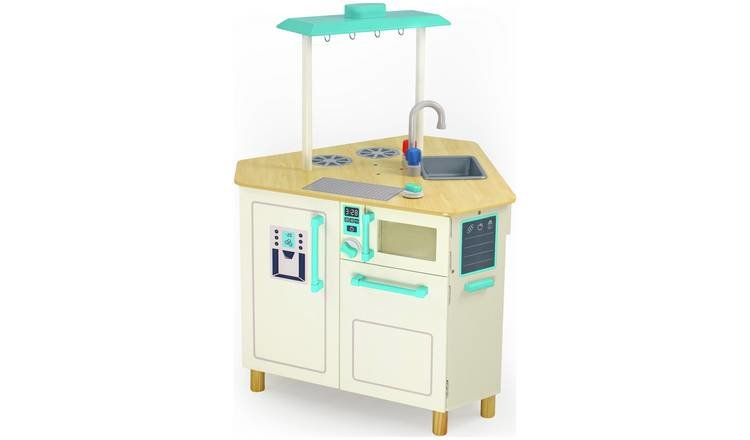Chad Valley Wooden Triangle Island Play Kitchen Bernu Koka Virtuve