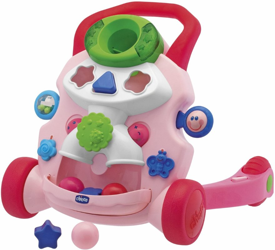 Chicco Baby Steps Activity Baby Walker-Pink Staigulīši