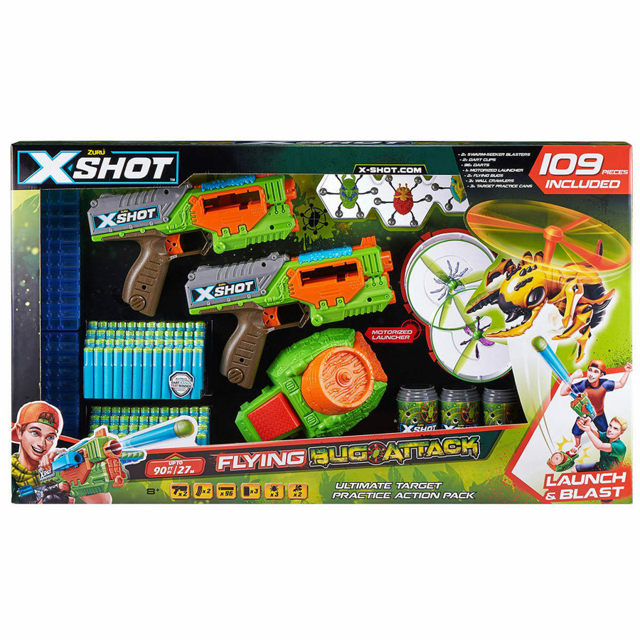 ZURU X-shot Bug Attack Swarm Seeker 109 Pieces Ultimate Target Action Pack