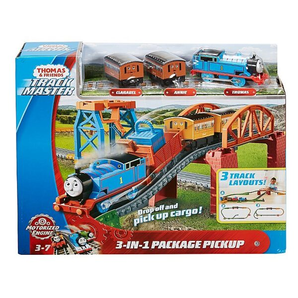 Thomas  Friends 3-in-1 Package Pickup Train Tracks
