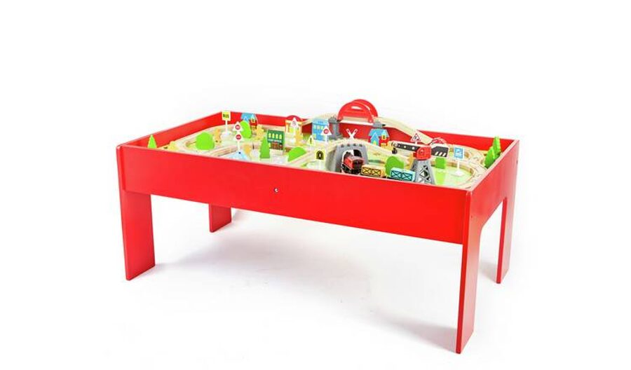 Koka dzelzceļa galds Battery Powered Train and Table - 90 Piece Set