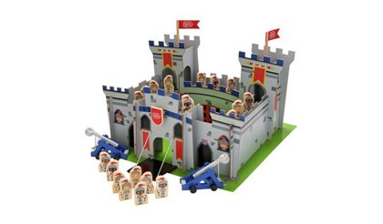 Koka Pils Knights Wooden Castle